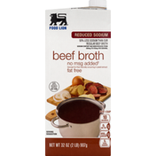 Food Lion Broth, Reduced Sodium, Beef