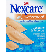 Nexcare Waterproof Cushioned Foam Bandages