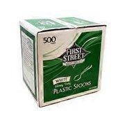 First Street Heavy Duty Plastic Spoons
