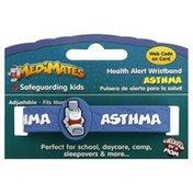 Medi Mates Health Alert Wristband, Asthma