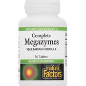 Natural Factors Megazymes, Complete, Tablets