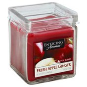 Enticing Aromas Scented Candle, Fresh Apple Ginger, Soy Blend