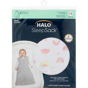 Halo Blanket, Large, Sunshine Rainbows Print Cotton, 12 to 18 Months