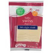 Food Club Baby Swiss Deli-Style Sliced Cheese