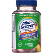 Alka-Seltzer Antacid, Extra Strength, Assorted Fruit, Chewable Tablets