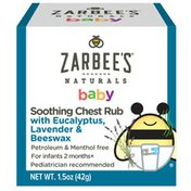 Zarbee's Naturals Baby Soothing Chest Rub, Eucalyptus, Lavender & Beeswax