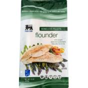 Food Lion Flounder, Boneless, Fillets, Pouch