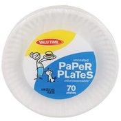 "Valu Time 9"" White Paper Plates"