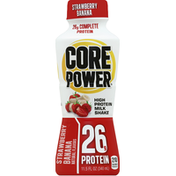Core Power Milk Shake, High Protein, Strawberry Banana