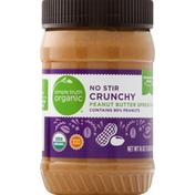 Simple Truth Organic Peanut Butter Spread, No Stir, Crunchy