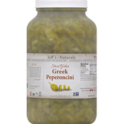 Jeff's Naturals Peperoncini, Greek, Golden, Sliced