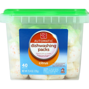 Harris Teeter Dishwashing Packs, Automatic, Citrus