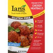 Ian's Chicken Meatballs, Gluten Free, Italian Style, Family Pack