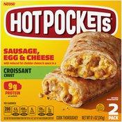 Hot Pockets Sausage, Egg & Cheese Croissant Crust Frozen Breakfast Sandwiches