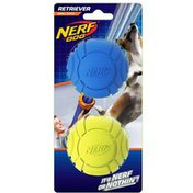 NERF DOG Small Blue Rubber Curve Balls