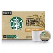 Starbucks Blonde Roast K-Cup Coffee Pods — Veranda Blend for Keurig Brewers