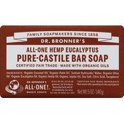 Dr. Bronner's Bar Soap, All-One Hemp Eucalyptus