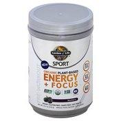 Garden of Life Energy + Focus, Plant-Based, Organic, Blackberry