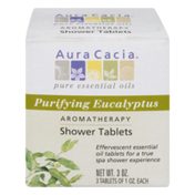 Aura Cacia Shower Tablets, Aromatherapy, Purifying Eucalyptus