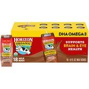 Horizon Organic 1% Lowfat UHT DHA Omega-3 Chocolate Milk