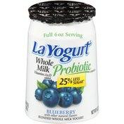 La Yogurt Probiotic Blueberry Blended Whole Milk Yogurt