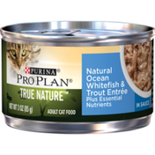 Purina Pro Plan Natural Wet Cat Food, TRUE NATURE Natural Ocean Whitefish & Trout Entree in Sauce