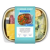 Home Chef Classic Brown Sugar-Glazed Beef Meatloaf With Cheddar Broccoli