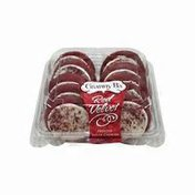 Red Velvet Frosted Sugar Cookies