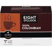 Eight O'Clock Coffee Coffee, Medium Roast, 100% Colombian Peaks, K-Cup Pods