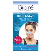 Bioré Blue Agave & Baking Soda Blackhead Remover Pore Strips, Nose Strips for Deep Pore Cleansing