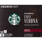 Starbucks Coffee, Ground, Dark Roast, Caffe Verona, K-Cup Pods