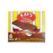 Kay's Novelty Classic Vanilla Ice Cream Sandwiches