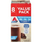 Atkins Dark Chocolate Royale Protein-Rich Shakes Value Pack