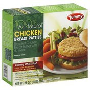 Yummy All Natural, Chicken Breast Patties, Box