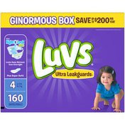 Luvs Ultra Leakguards Diapers Size 4 160 count  Diapers