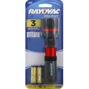 Rayovac Flashlight, 3 LED