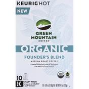 Green Mountain Coffee, Organic, Medium Roast, Founder's Blend, K-Cup Pods