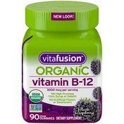 VitaFusion Organic Black Raspberry Flavor Vitamin B-12 Dietary Supplement