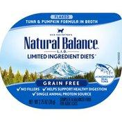 Natural Balance Cat Food, Flaked, Tuna & Pumpkin Formula in Broth