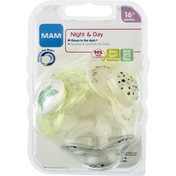 MAM Pacifiers, Day & Night, 16+ Months