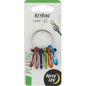 Nite Ize Key Ring, Plastic