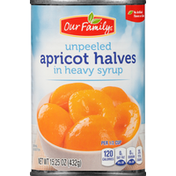 Our Family Apricot Halves Unpeeled In Heavy Syrup