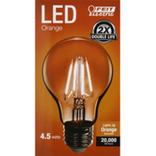Feit Electric Bulb, LED, Orange, 4.5 Watts