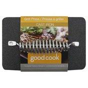 GoodCook Grill Press, Cast Iron, Sleeve