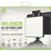 DigiPower Video Light, 60 LED, Influencer, Light Up