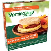 Morning Star Farms Veggie Breakfast Sandwich, Sausage, Egg and Cheese, Vegetarian