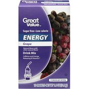 Great Value Grape Energy Drink Mix