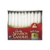 Ner Mitzvah 6 Hour White Dripless Paraffin Deluxe Shabbos Tapered Candles