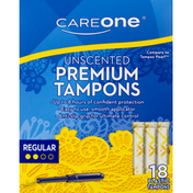CareOne Tampons Regular Absorbency Unscented