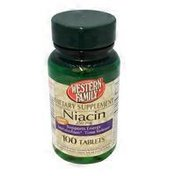 Western Family Niacin Tablets